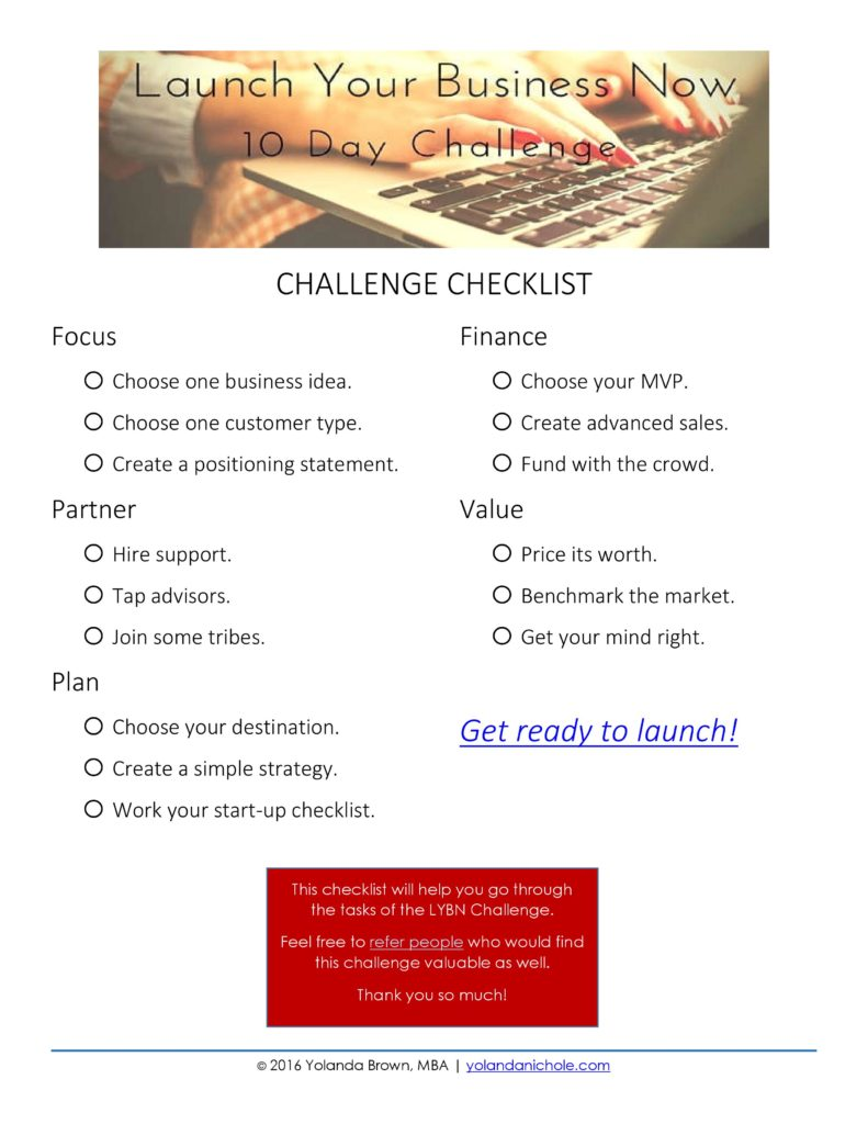 Launching Checklist